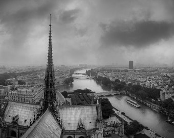 Paris France Notre Dame Cathedral Art Photography Print Wall Decor