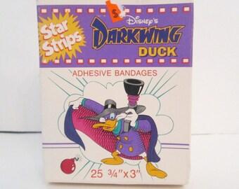 Darkwing Duck Adhesive Bandages Star Stripes Disney Licensed Bandaids Rare