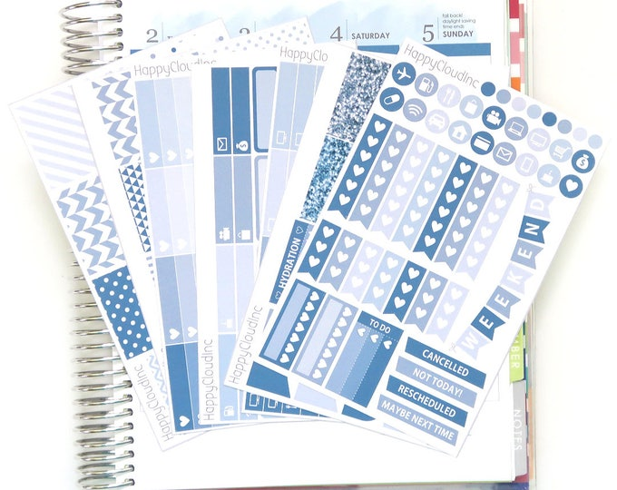 November '20 Vertical Planner Stickers Kit for use with Erin Condren LifePlanner™ (7 Sheets)