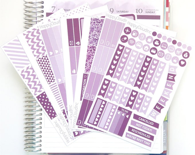 September '20 Vertical Planner Stickers Kit for use with Erin Condren LifePlanner™ (7 Sheets)