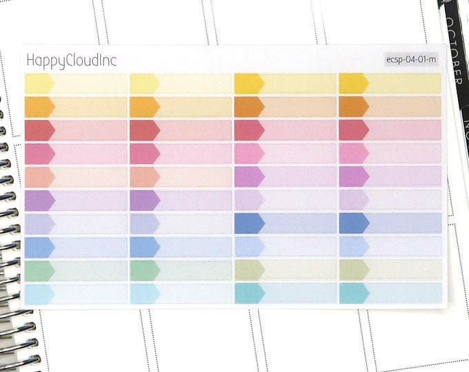 Pastel Rainbow Small Appointment Boxes Planner Stickers for use with Erin Condren LifePlanner™ (40 Stickers)