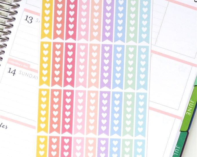 Horizontal Rainbow Checklist Planner Stickers