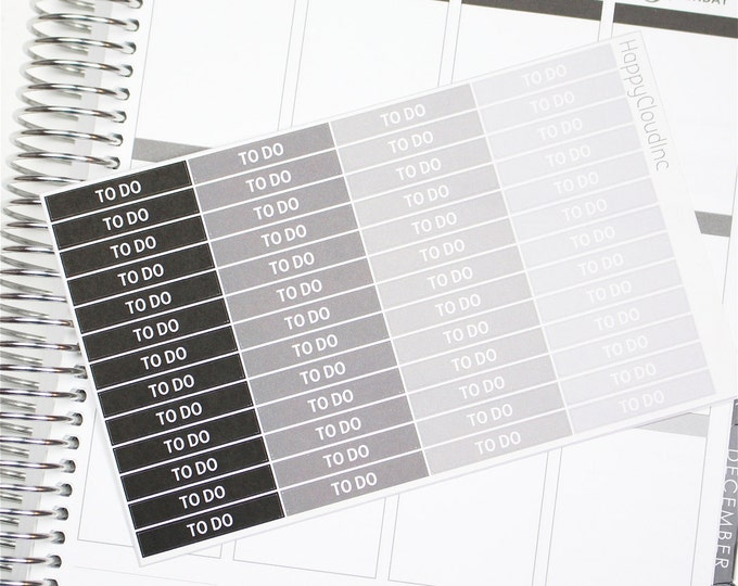 Neutral Vertical To Do Label / Header Planner Stickers for use with Erin Condren LifePlanner™