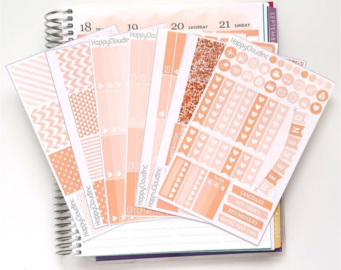 May '20 Vertical Planner Stickers Kit for use with Erin Condren LifePlanner™ (7 Sheets)