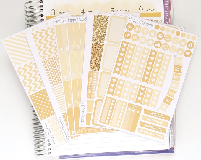 August '20 Vertical Planner Stickers Kit for use with Erin Condren LifePlanner™ (7 Sheets)
