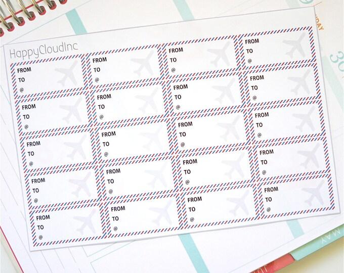 Airplane Ticket Planner Stickers