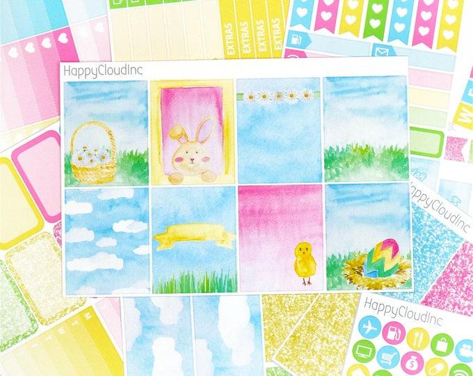 Easter & Spring Planner Sticker Kit for Vertical Erin Condren (8 sheets)