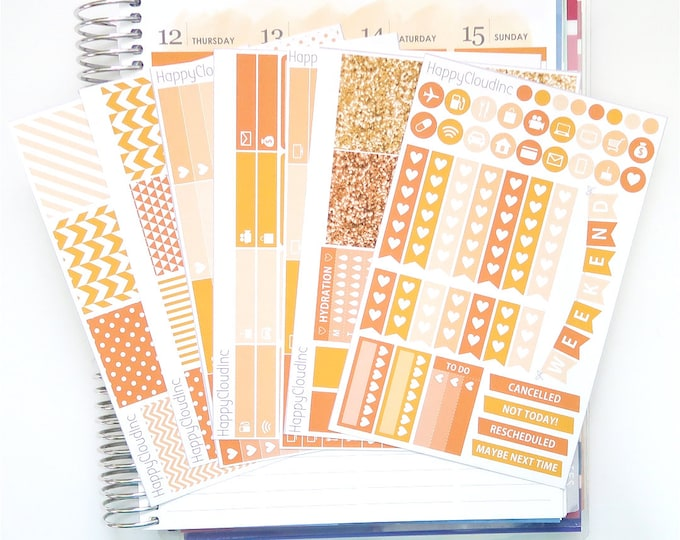 October '20 Vertical Planner Stickers Kit for use with Erin Condren LifePlanner™ (7 Sheets)