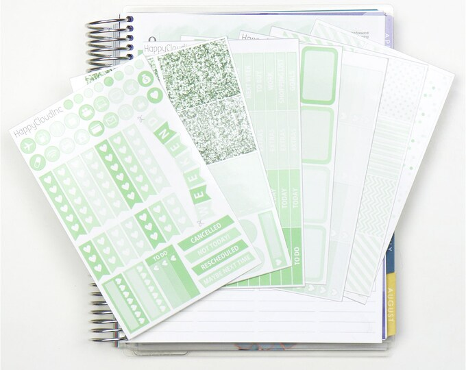 March '20 Vertical Planner Stickers Kit for use with Erin Condren LifePlanner™ (7 Sheets)