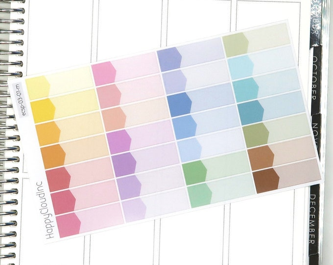 Pastel Rainbow Large Appointment Boxes Planner Stickers for use with Erin Condren LifePlanner™ (28 Stickers)