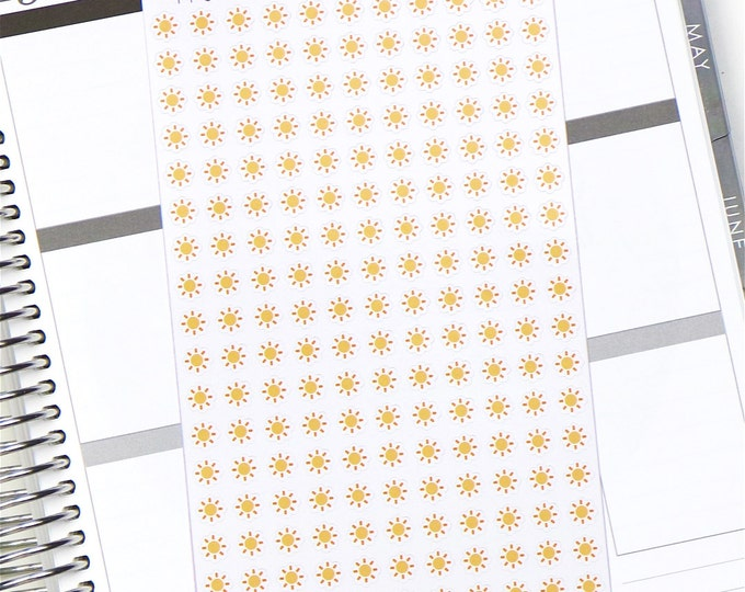 Sunny Weather Planner Stickers - Glossy Stickers (187 Stickers)