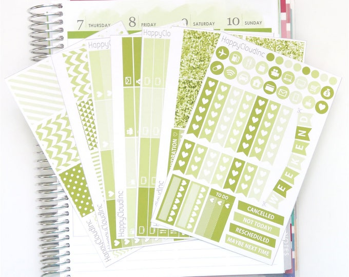December '20 Vertical Planner Stickers Kit for use with Erin Condren LifePlanner™ (7 Sheets)