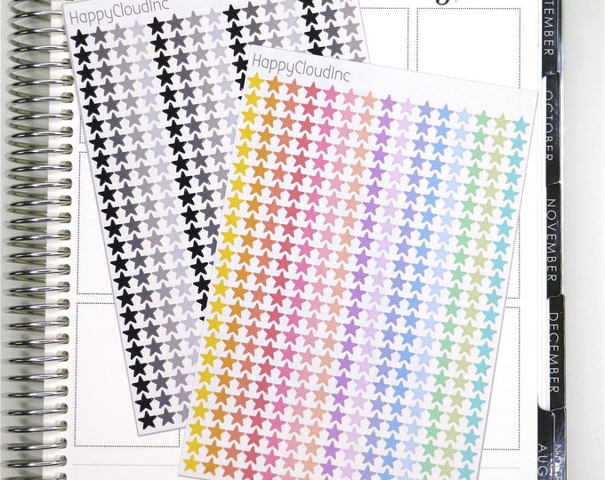 Mini Star Stickers - Planner Stickers