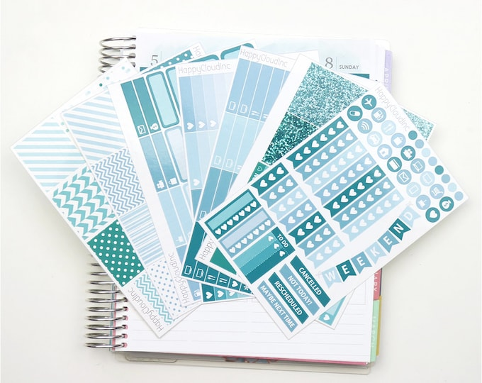 January '20 Vertical Planner Stickers Kit for use with Erin Condren LifePlanner™ (7 Sheets)