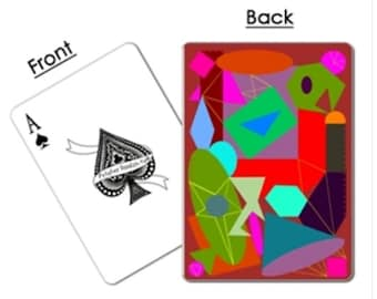 Playing Card Deck - Poker or Bridge Sized - Geometric Design