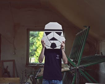 wooden stormtrooper wall decor