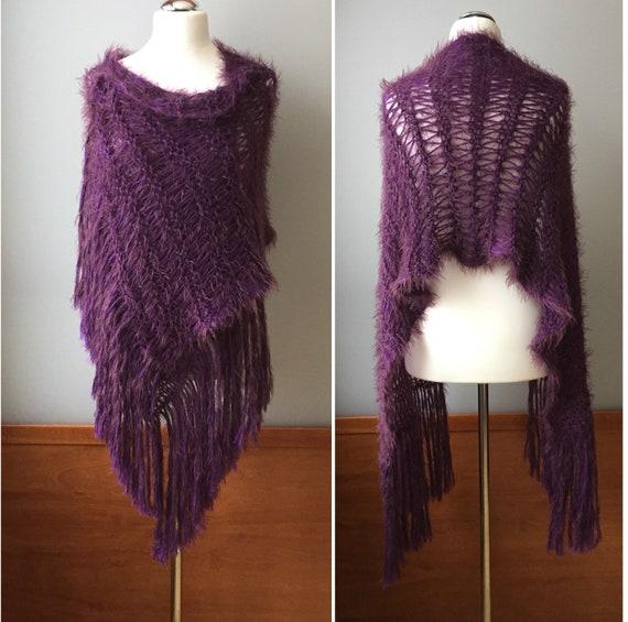 Boho Extra Long large frangé châle écharpe en tricot lin   Etsy 8da9ebdfc7c