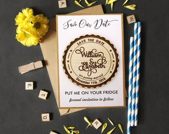 Personalized Magnet Wedding Magnets 20 Save The Date Magnet Rustic Custom Wood Engraved Magnets Printdotpot MG88