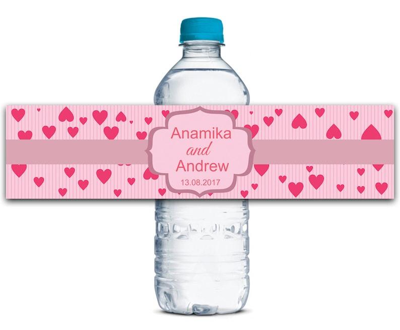 Waterproof Stickers Custom Wedding Labels Bridal Shower Invitation Labels Wedding Invites Labels WBL81P Personalized Water Bottle Labels