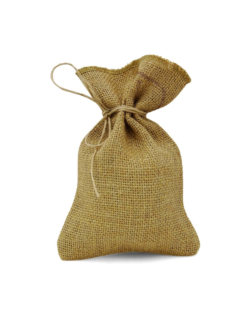 Small Sack Bags PFAB-130A Wedding Favor Bags Jute Pouches 50 Small Drawstring Bag Rustic Wedding Jute Bags Burlap Favor Jute Pouches