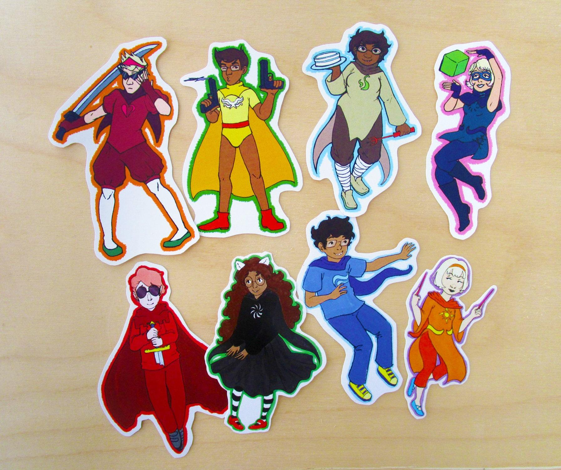 Homestuck Kids God Tier Stickers | Etsy Homestuck God Tier Names
