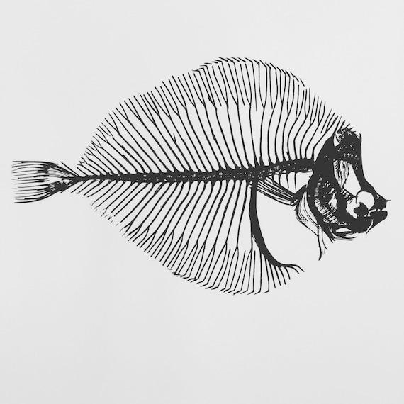 Fish Bones Fish Skeleton Decal Fishing Decal Fish Art Etsy