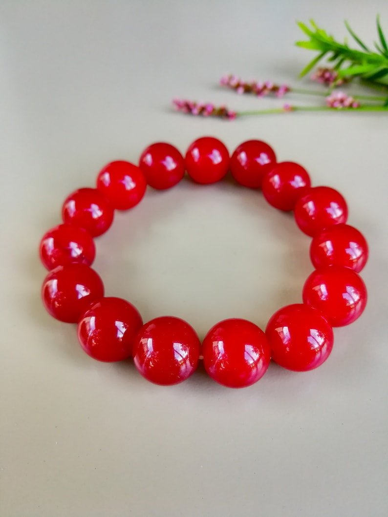 Red Opal Bracelet meaning: faithful loyal love passion image 0