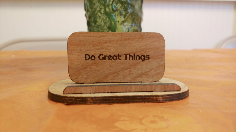 Personalize Phone Stand Custom Wooden phone Accessory Wooden image 0