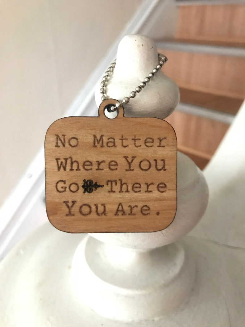 Buy One Get Two  Wooden Keychain For Strength Rectangle image 0