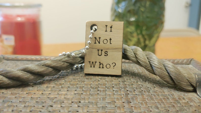Wooden key chain Rectangle Wooden Key ring Wooden Gift If image 0