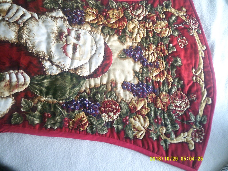 Large Traditonal Christmas  Holiday stocking Hand Quilted  Heirloom of the future