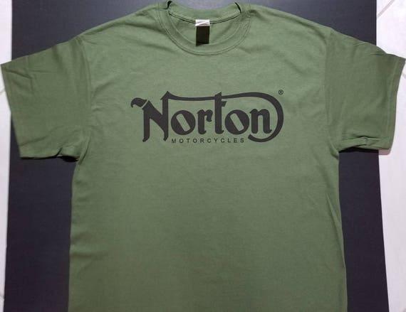 Trouble Café Racer Norton Triumph Britannique Vélo Moto Rétro Naturel T-Shirt