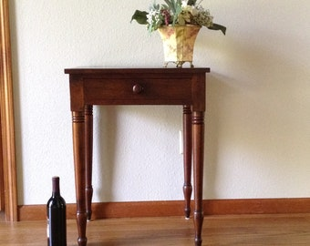 Antique Walnut Table, Vintage Table, Wood Table, End Table, Hall Table,  Side Table