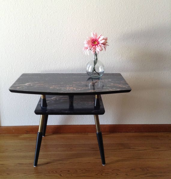 Vintage Mid Century Modern Side Table End Table Accent Table Night Stand Tv Stand Atomic