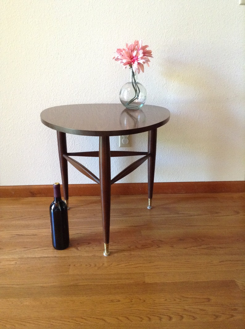 Antiques Tables The Cheapest Price Retro Mid Century Modern Round Drum Lamp Table With Drawer By Mersman Signed