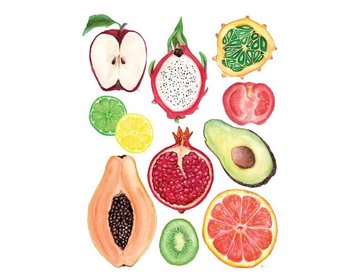 Half Fruits