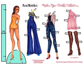 Digital Download Paper Doll