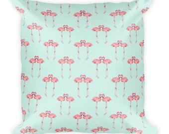 Love flamingo Square Pillow