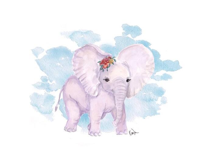 Purple Baby Elephant