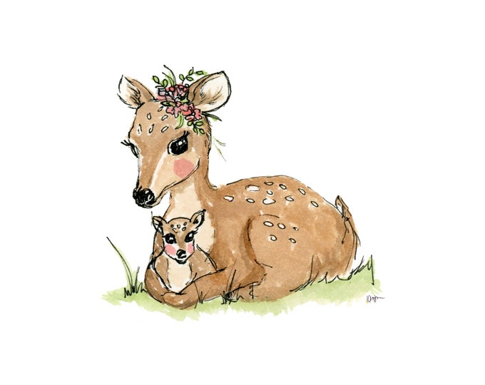 Mommy and Me Deer