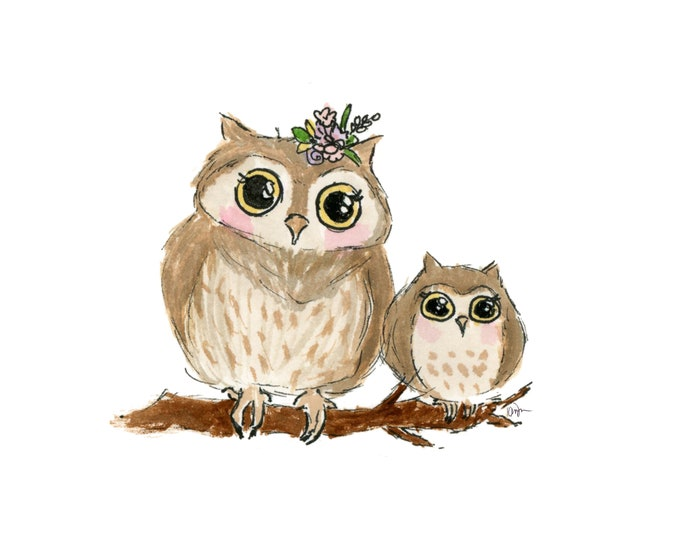 Mommy and me Owl