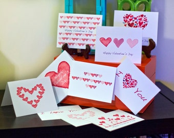 Happy Valentines Day Greeting Cards (Set of 10 Cards with envelopes)