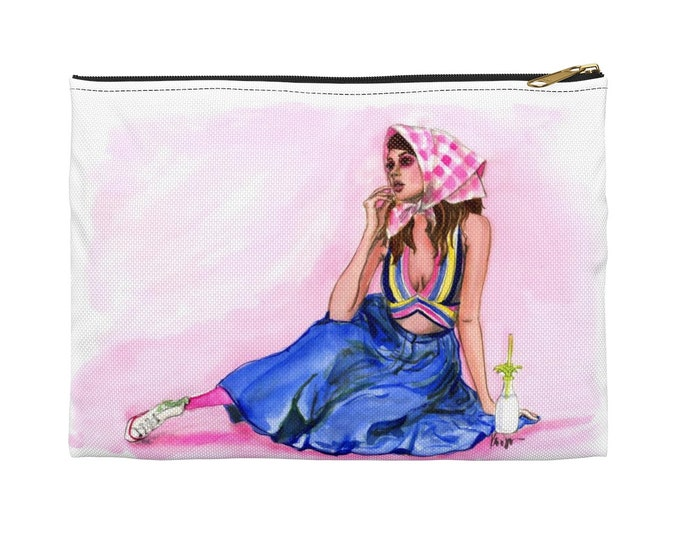 Plaid Girl Accessory Pouch