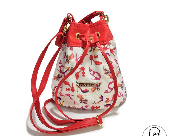 Crossbody Bucket Bag
