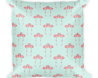 Love flamingo Square Pillow