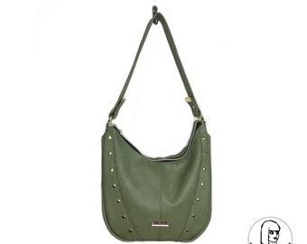 Faux-Leather Glam Handbag