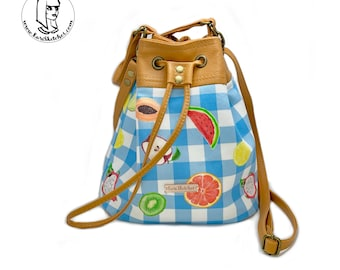 Crossbody Fruit Bucket Bag