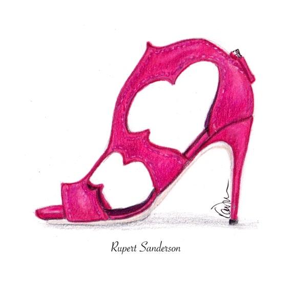 30d50c0b213 Rupert Sanderson Super Cute Shock Colored Silk Satin Estelle