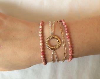 Gold and Rose Bracelet Set - 4 Bracelets