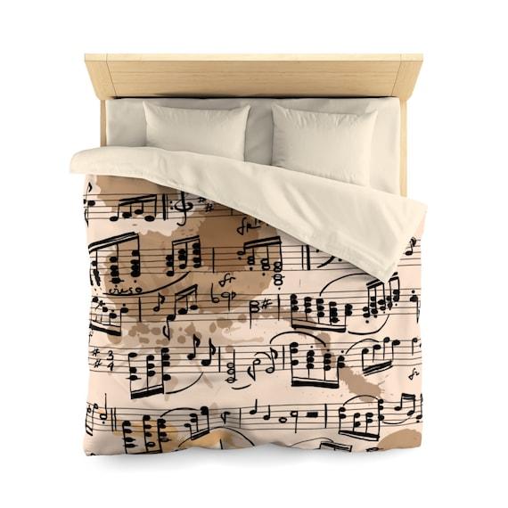 Music Bedding Music Bedroom Decor Music Comforter Music | Etsy